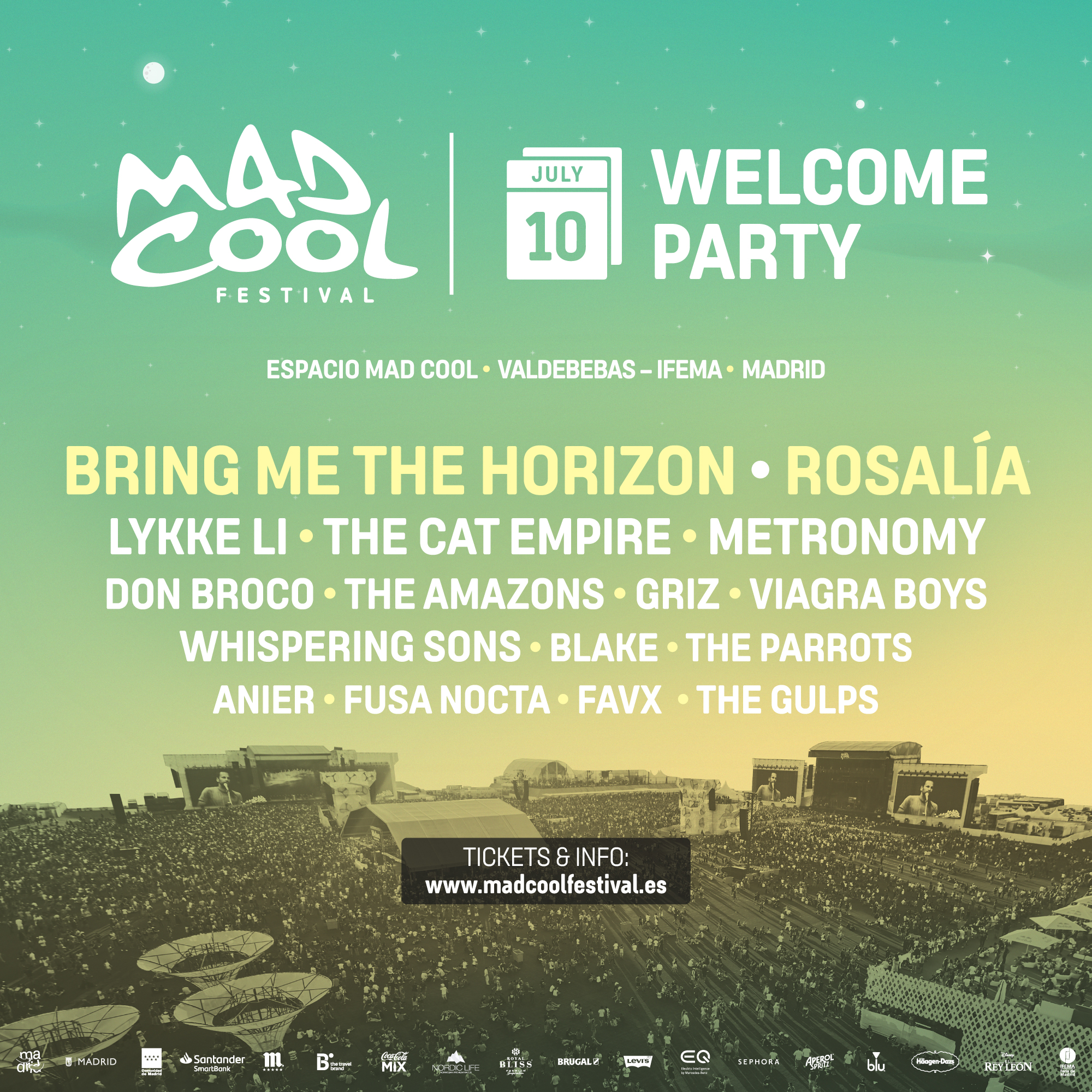 Mad Cool 2019: Lauryn Hill, Johnny Marr, Perry Farrell, Cat Power y los Prophets completan el cartel - Página 3 Lineup_welcome_party